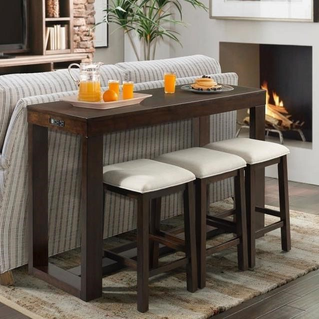 Bar Height Table And Chairs Hardy Bar Table Set With Three Stools By Elements International At Great American Home Store