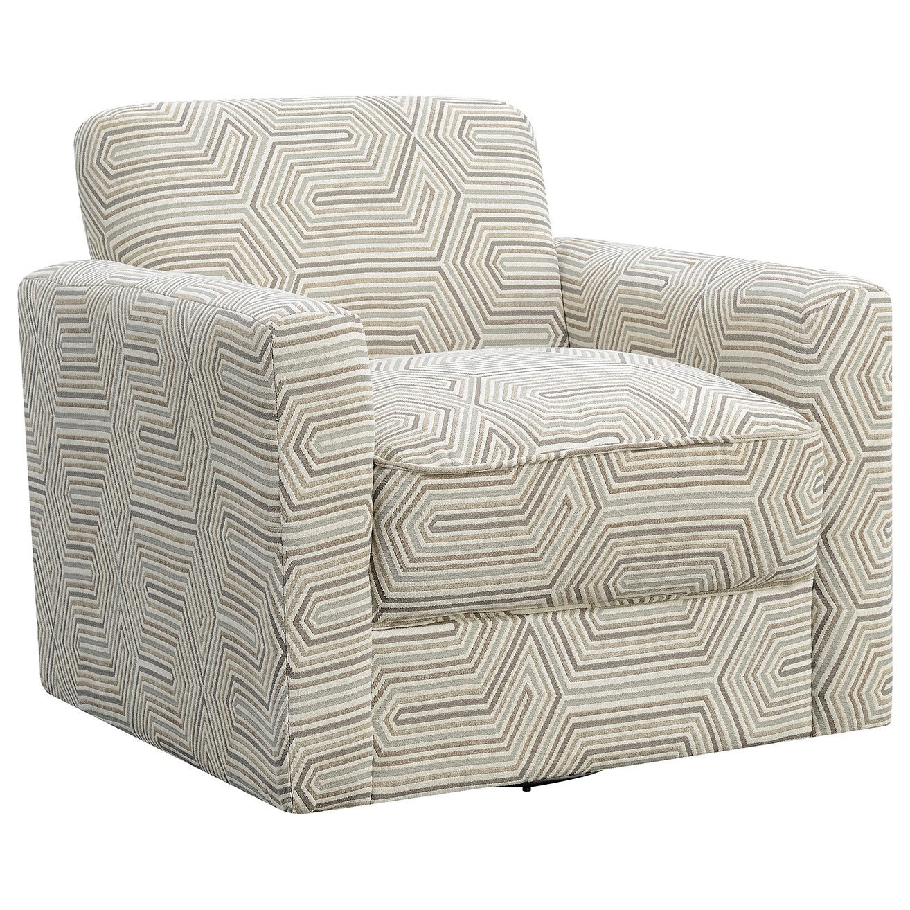 Upholstered Swivel Chairs Paramount Swivel Upholstered Chair By Elements International At Great American Home Store