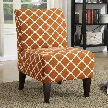 orange upholstered chair hon ignition user manual elements international scarlett slipper with espresso legs scarlettslipper