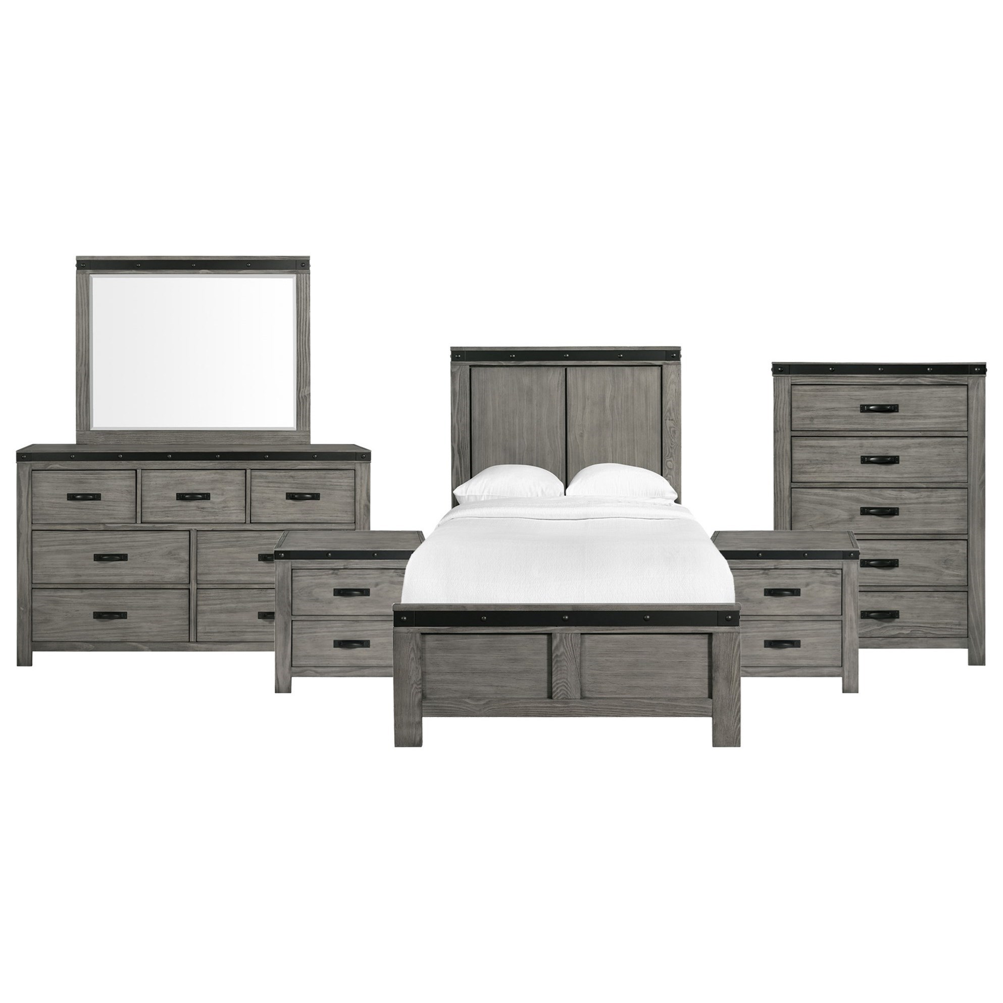 wade twin panel 6 piece bedroom set