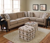 England Collegedale Contemporary 3-Piece Sectional ...