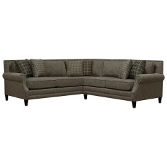 Palmer Sofa Vig Leather England Transitional 2 Piece Sectional With Rolled Arms Palmer2