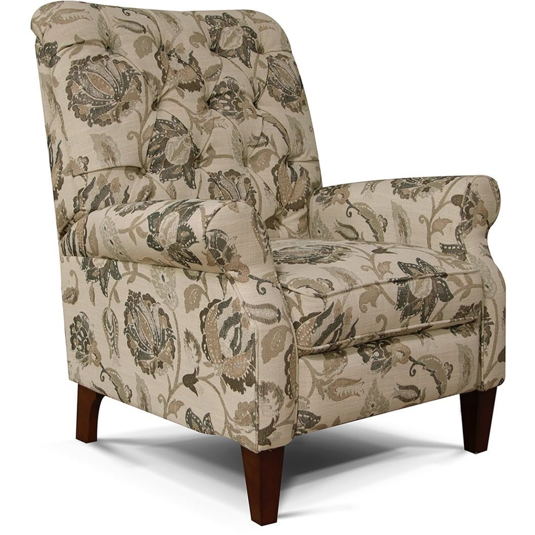 Tufted High Back Chair England Stella 5u00 31 Push Back Chair With Tufted Back