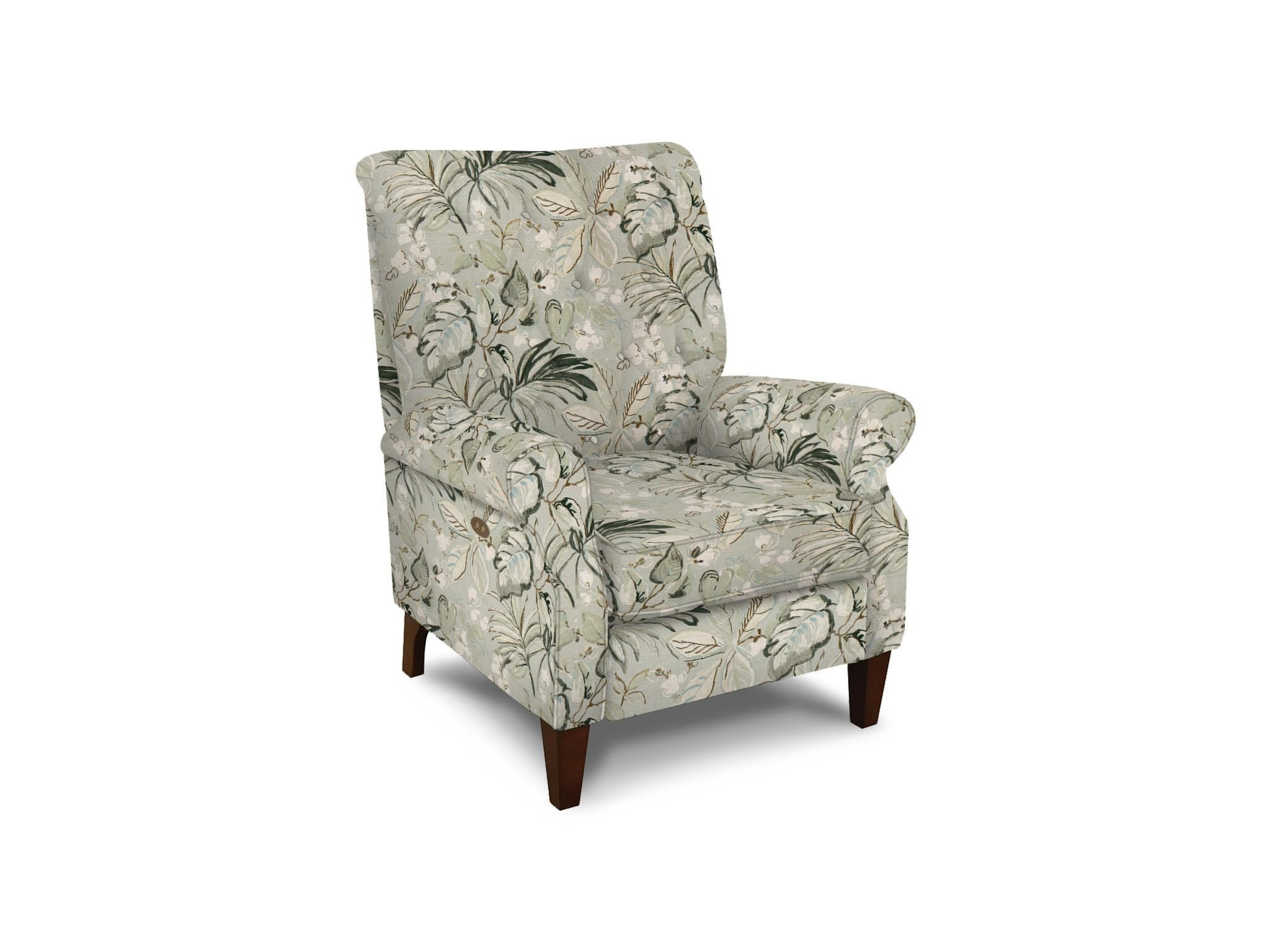 Tufted High Back Chair Stella Push Back Chair With Tufted Back By England At Vandrie Home Furnishings
