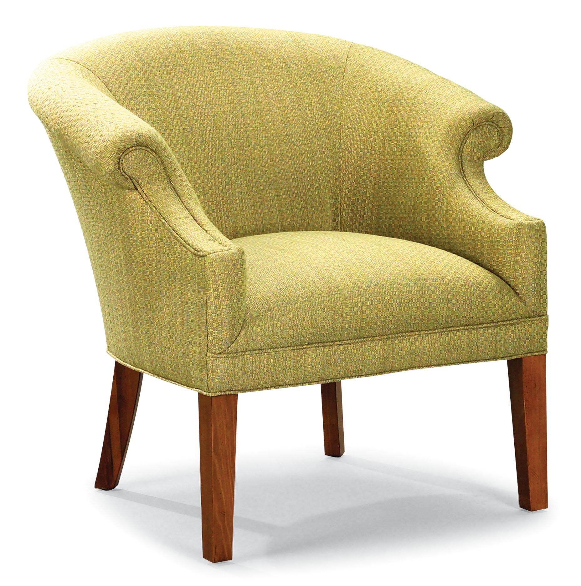 Stationary Chair Chairs Curved Stationary Chair With Tall Wood Legs By Fairfield At Lindy S Furniture Company