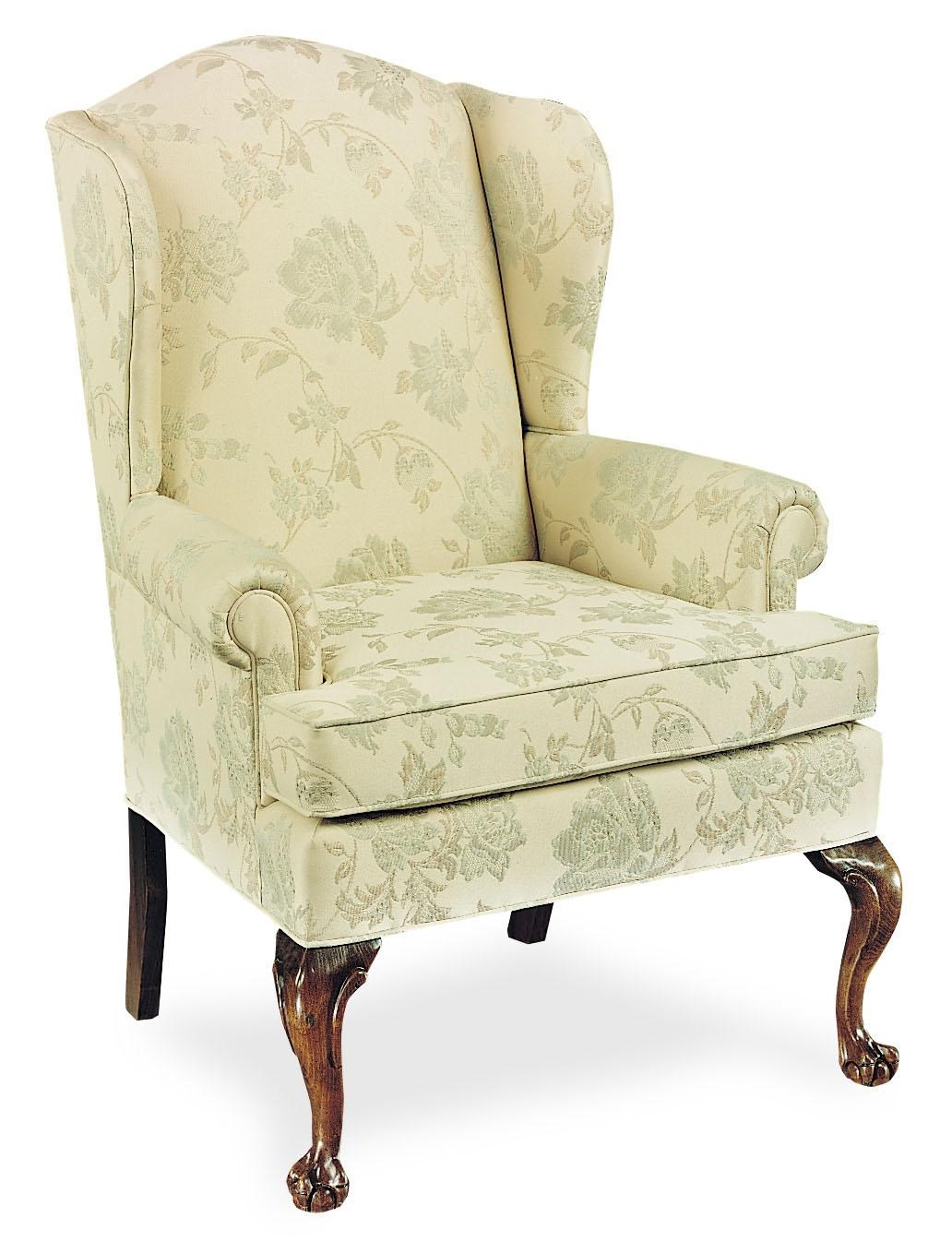 Fairfield Chairs Chairs Upholstered Wing Chair With Claw Feet By Fairfield At Lindy S Furniture Company