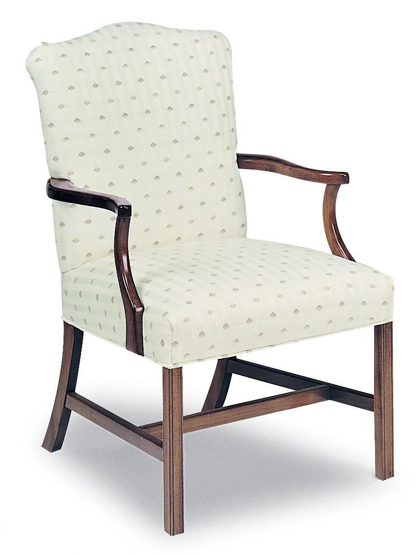 Fairfield Chairs Chairs Upholstered Exposed Wood Chair With Chippendale Legs By Fairfield At Lindy S Furniture Company