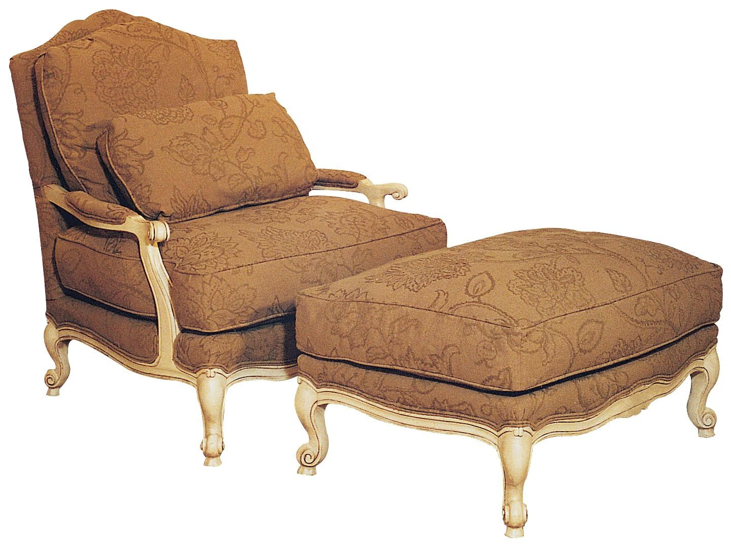 Chairs With Ottoman Chairs Victorian Lounge Chair Ottoman Set By Fairfield At Olinde S Furniture
