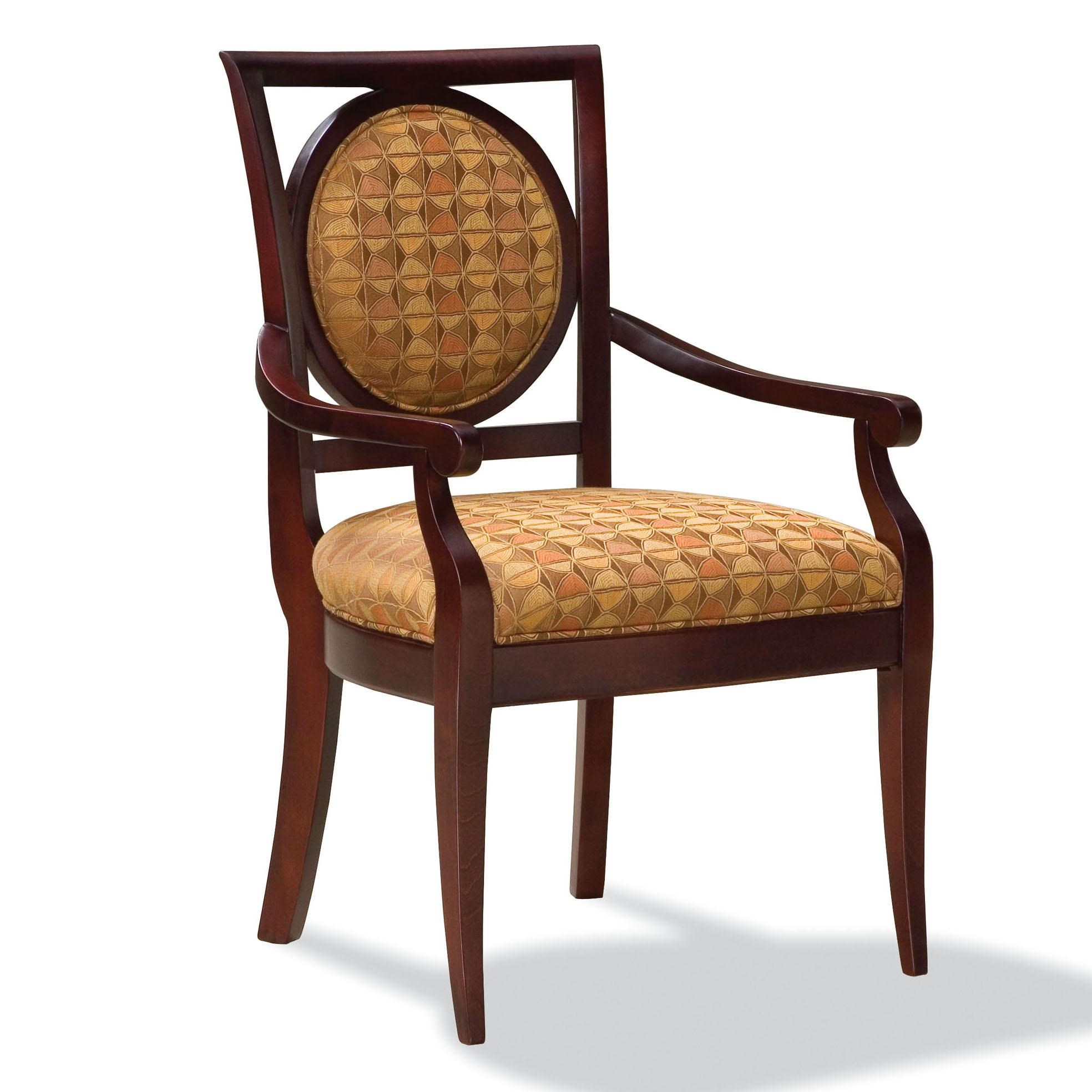 upholstered chairs with wooden arms bamboo papasan chair fairfield exposed wood arm lindy s