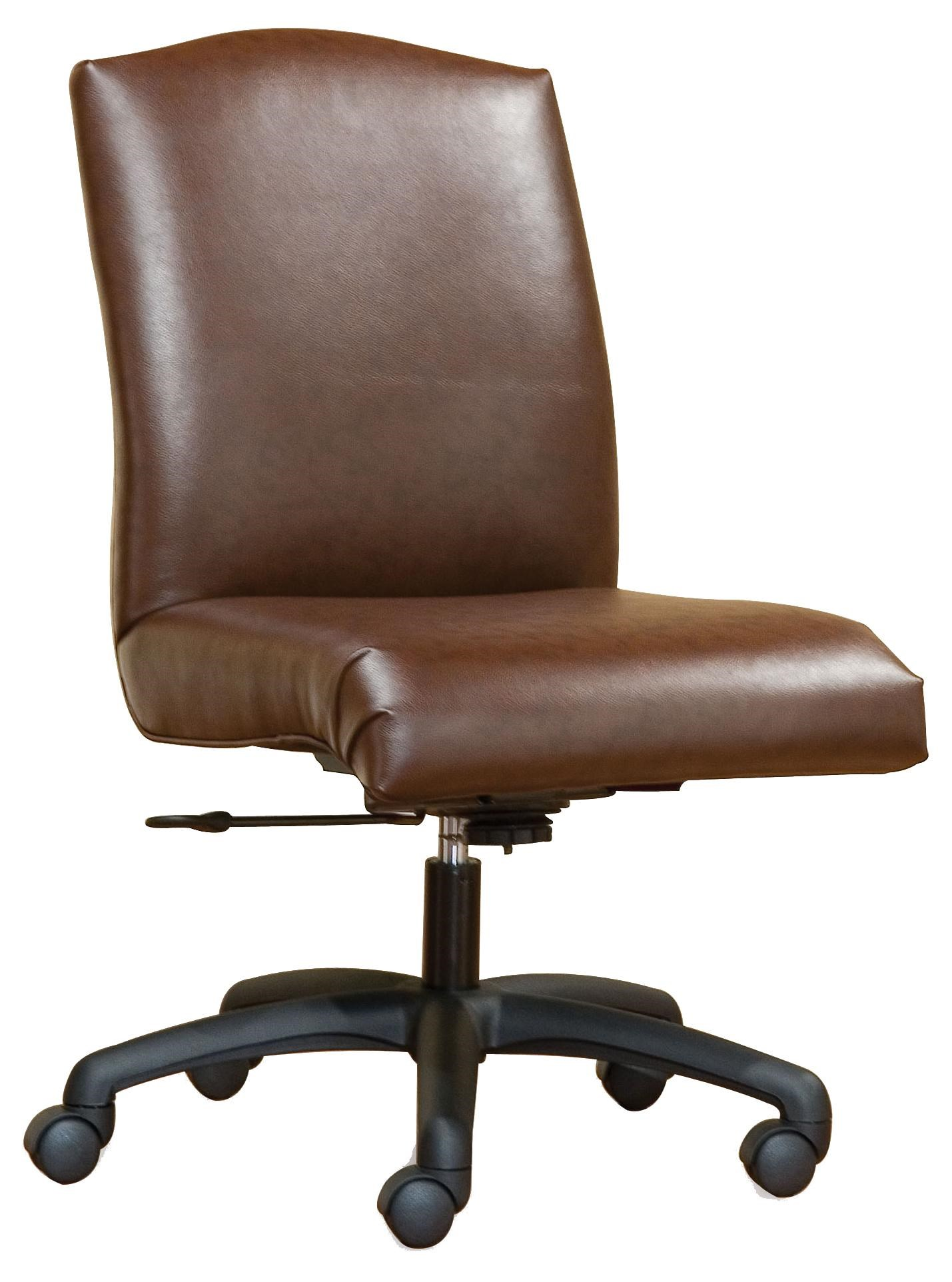 armless chair office ergonomic desk no wheels fairfield furnishings smooth swivel olinde s