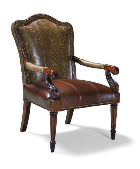 Fairfield Chairs Fairfield Chairs 5443 01 Exposed Wood Upholstered Occasional Chair