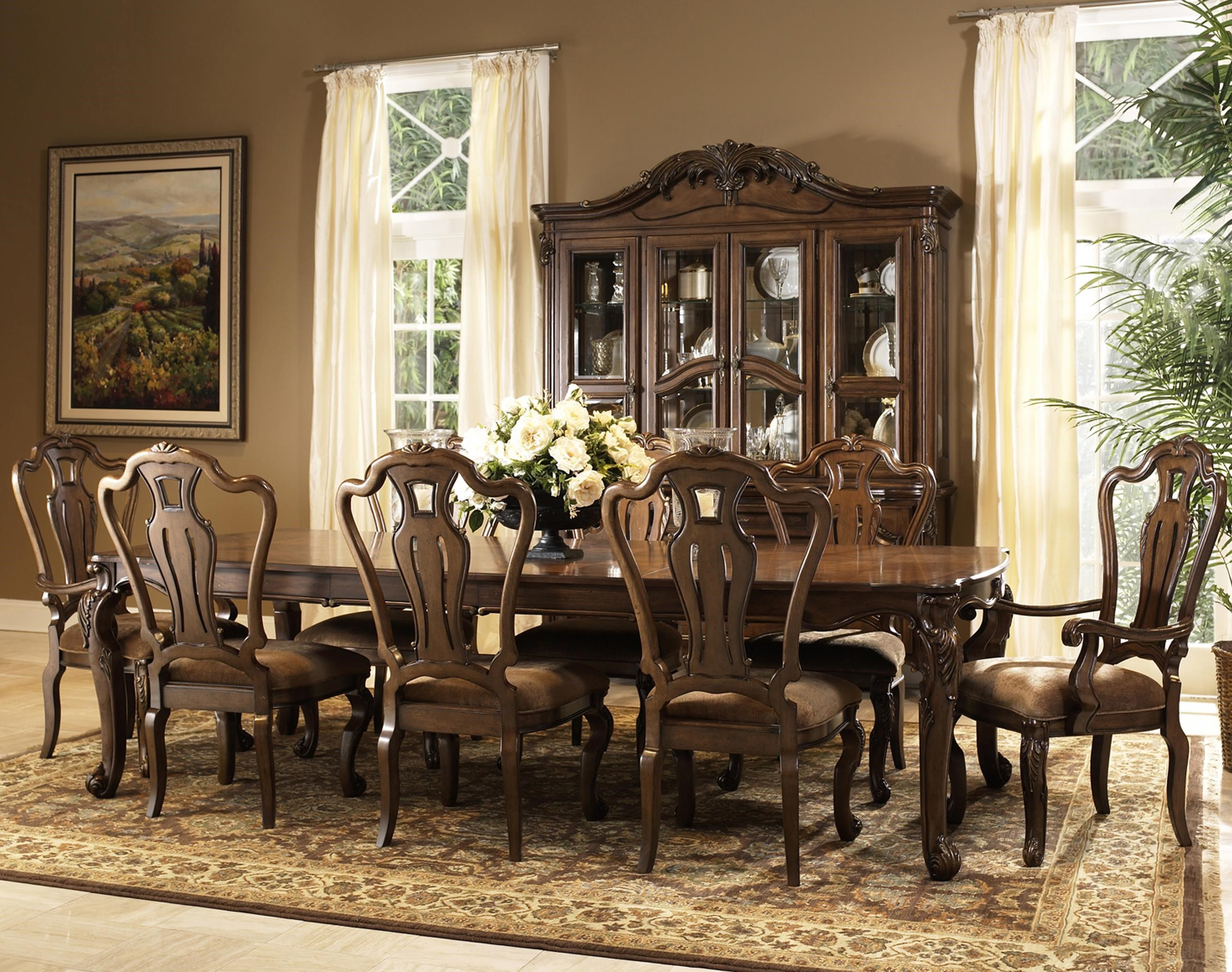 dining table and chair sets coors light with cooler fairmont designs rochelle 9 piece set dunk bright furniture 7 or more
