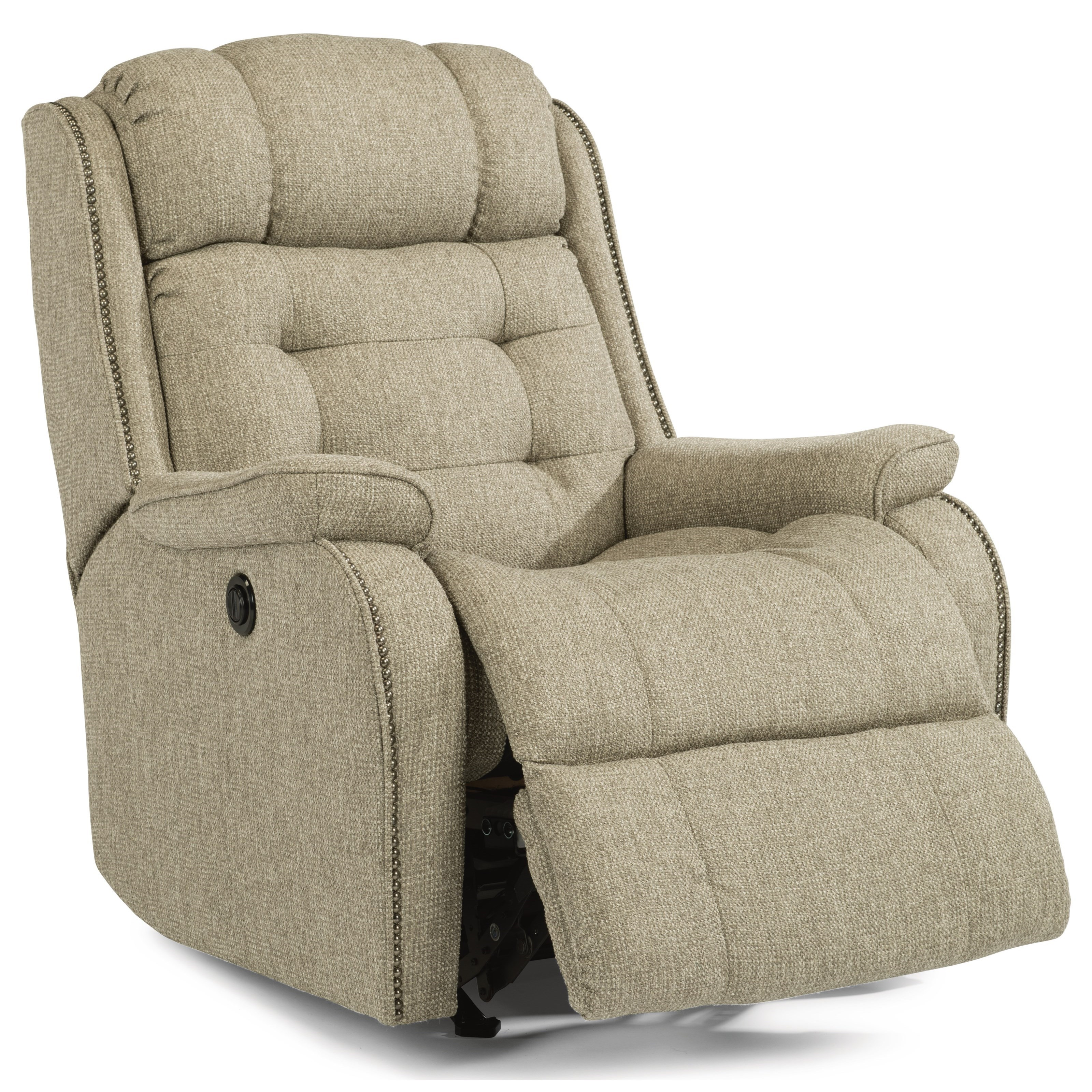 reclining accent chair outdoor dining chairs white flexsteel accents cassidy rocker recliner with transitional detailing