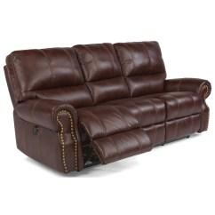 Reclining Sofa With Nailhead Trim Chesterfield Velvet Bed Flexsteel Latitudes Carlton Traditional Power Carltonpower