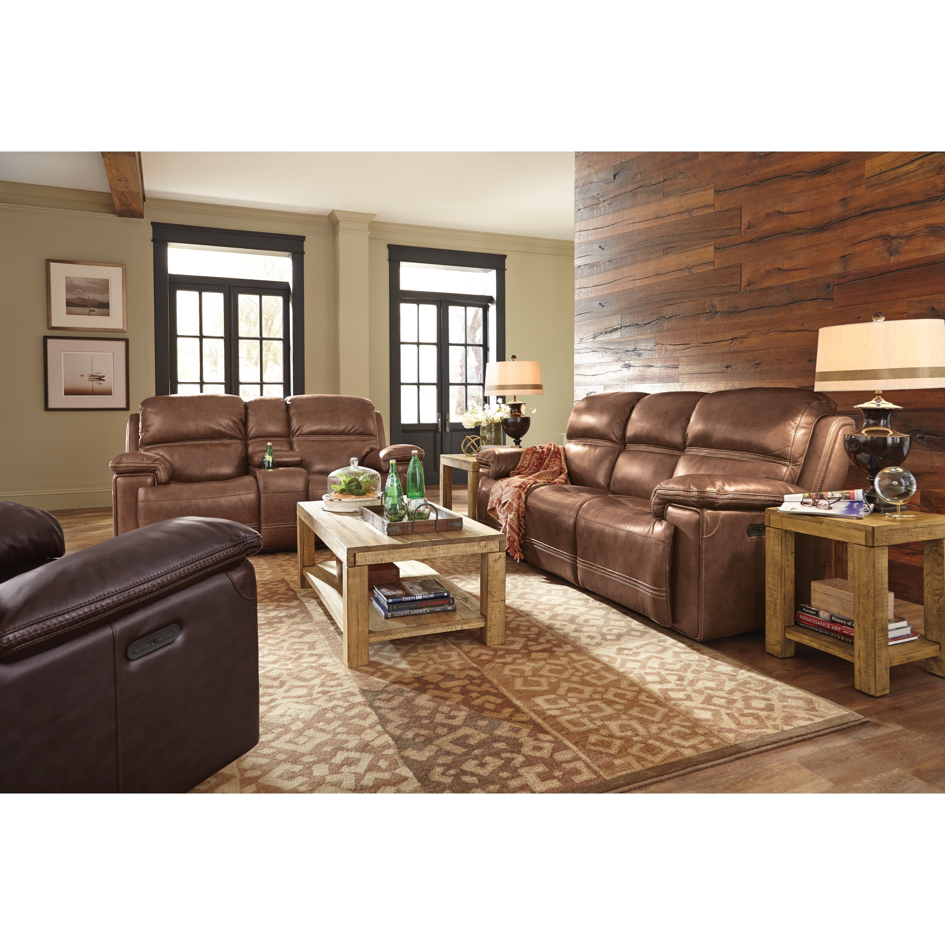 flexsteel double reclining sofa reviews mickey mouse clubhouse flip open with slumber bed latitudes fenwick living room group steger s