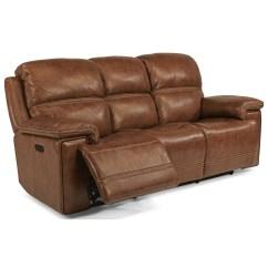 72 Lancaster Leather Sofa Patio Sectional Set Flexsteel Latitudes Fenwick 1659 62ph Power Reclining With Tilt Headrest And Usb Port Coconis Furniture Mattress 1st Sofas