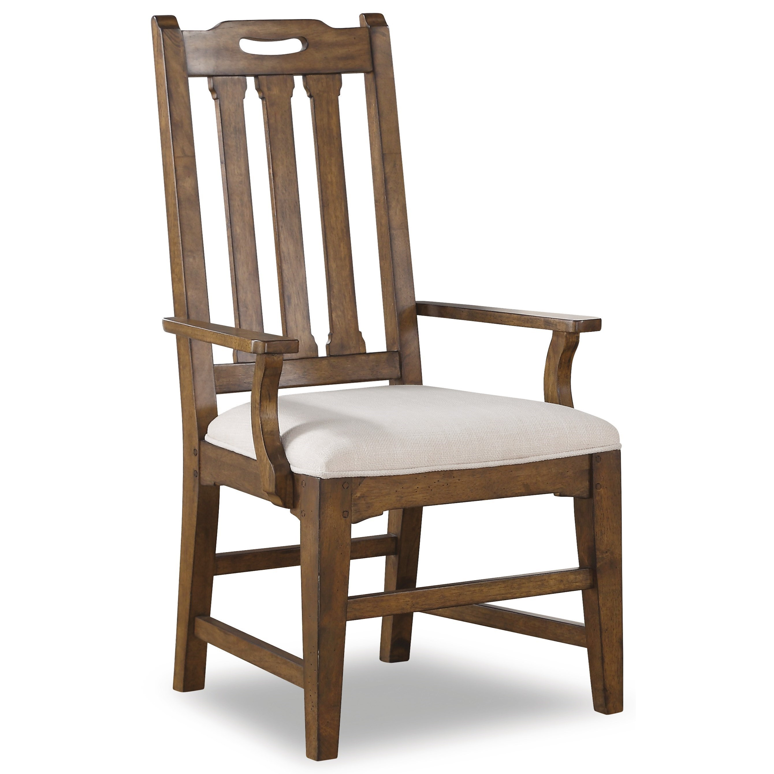 upholstered arm dining chair white high back chairs flexsteel wynwood collection sonora w1134 843 mission with slat dunk bright furniture