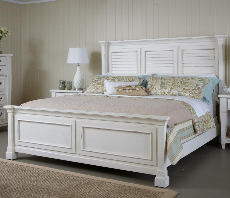 Astoria Queen Bed With Shutter Headboard And Panel