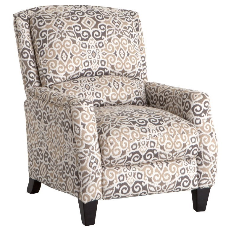 reclining accent chair ergonomic walmart franklin recliners cosmo push back recliner with wooden reclinerscosmo