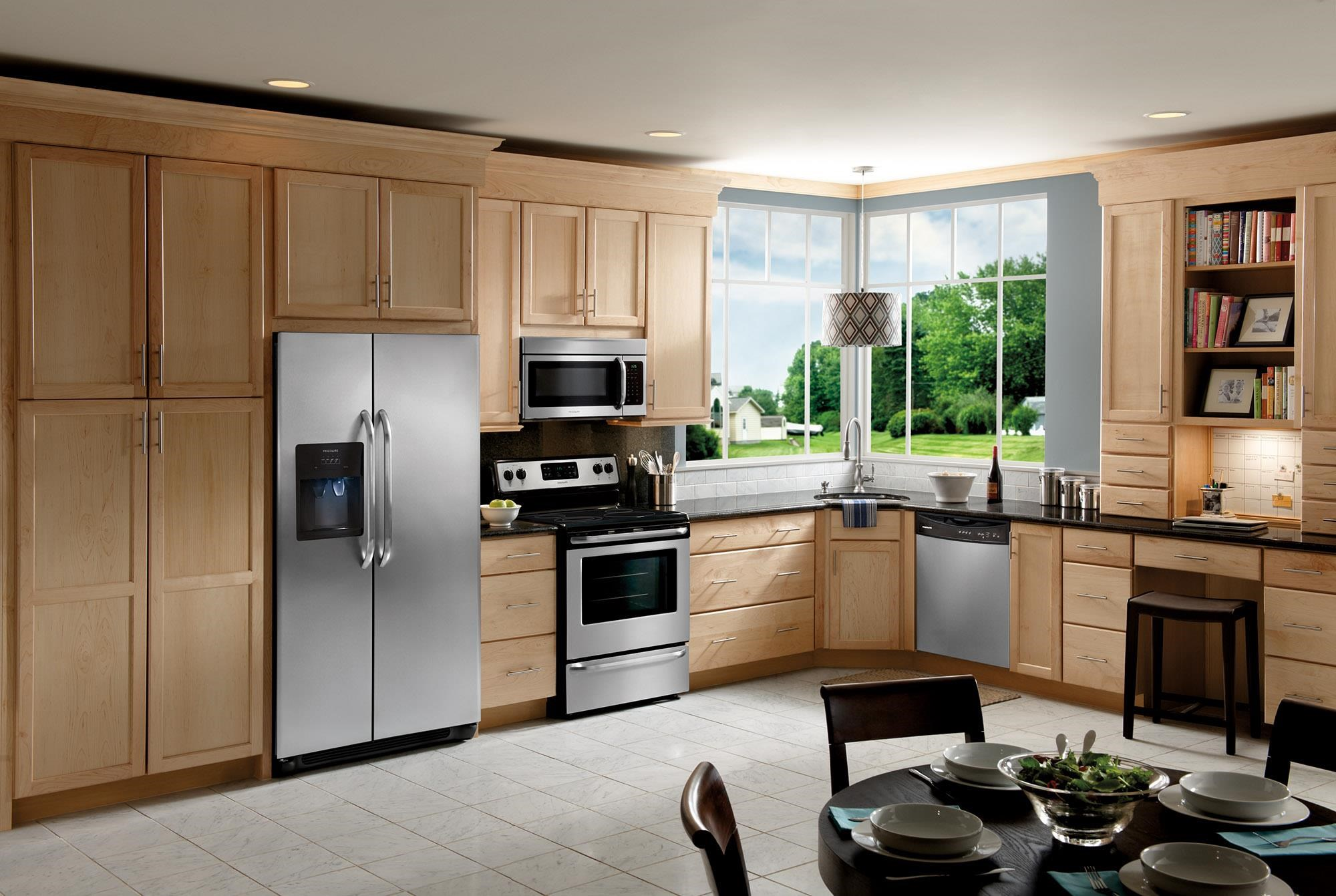 frigidaire kitchen package home depot door hardware 4 piece stainless steel boulevard furnishings appliance group