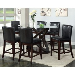 High Top Table With 6 Chairs Iron And Set Furniture Of America Atenna Ii Contemporary Counter Height