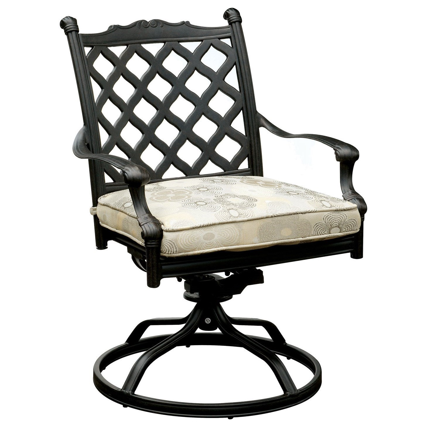 outdoor swivel rocker chair office chairs nyc furniture of america chiara i traditional rock dining with cushion set 2