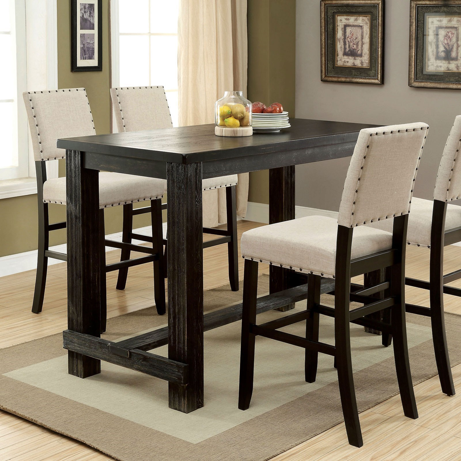 Bar Height Table And Chairs Sania Ii Rustic Bar Height Table By Furniture Of America At Furniture Superstore Nm
