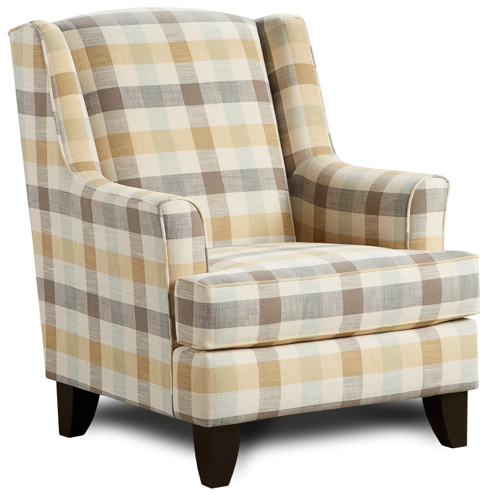 Wing Back Chairs 260 Transitional Wing Back Chair By Fusion Furniture At Steger S Furniture