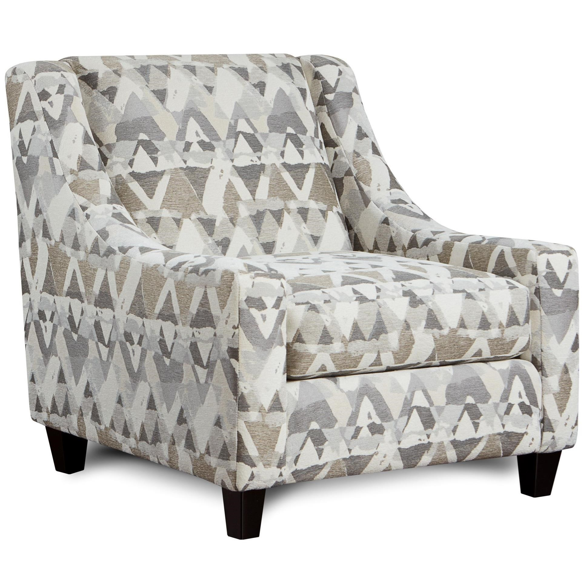 accent chair with arms fisher price rocking fusion furniture 552 upholstered low profile