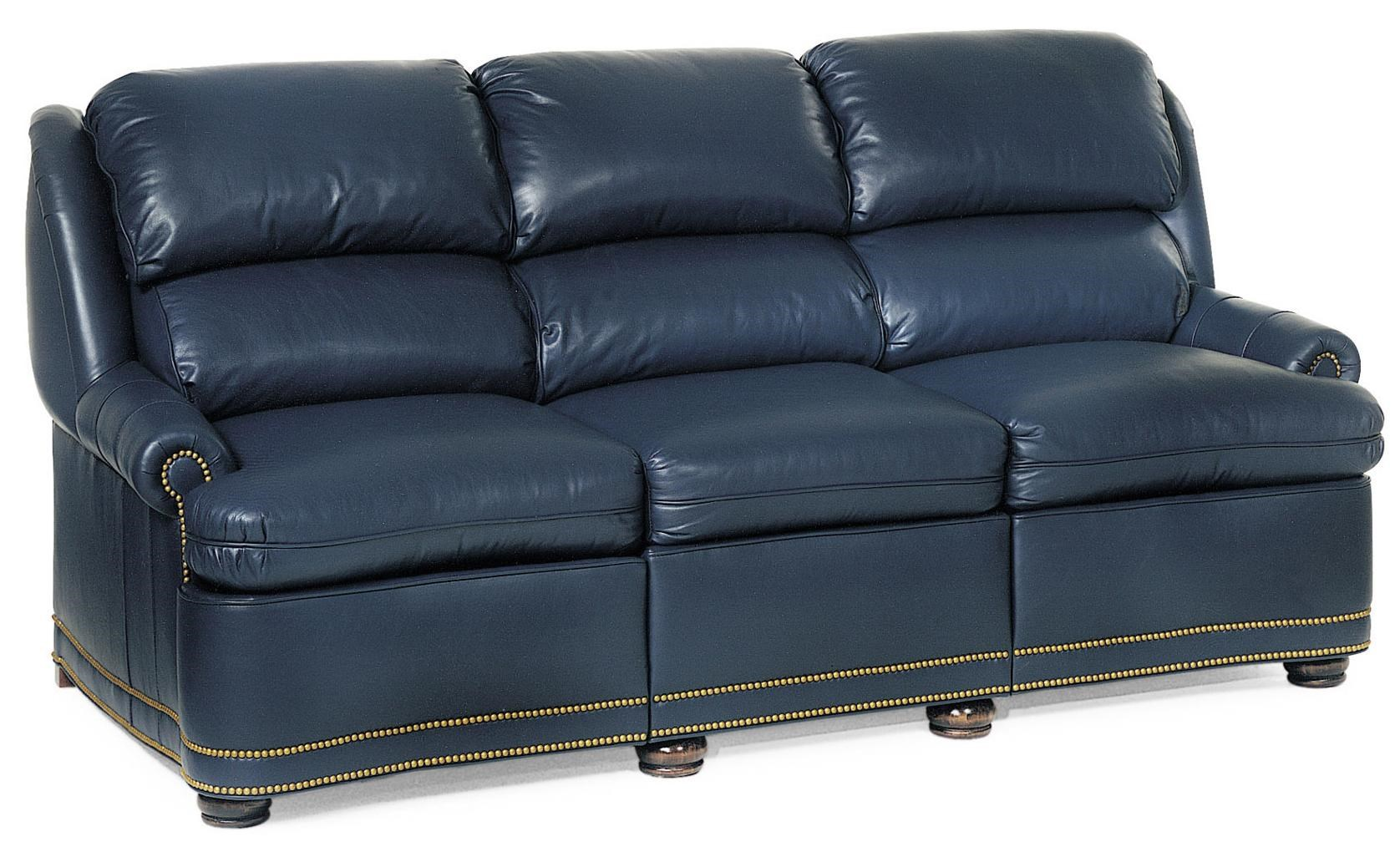 reclining sofa with nailhead trim benchcraft calicho 2 pc sectional laf corner chaise hancock moore austin 9034 30 traditional full recline