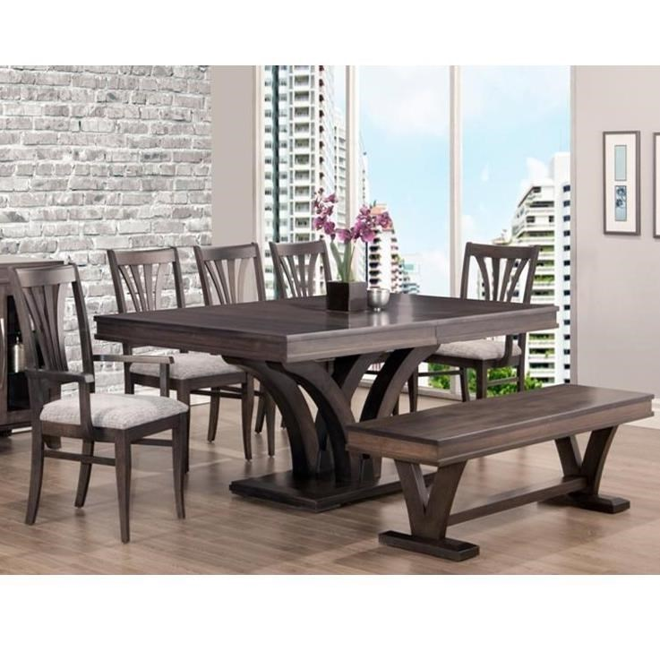 Dining Room Chair Sets Verona Customizable Table And Chair Set With Bench By Handstone At Stoney Creek Furniture