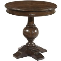 Hekman Charleston Place Round Pedestal Lamp Table ...