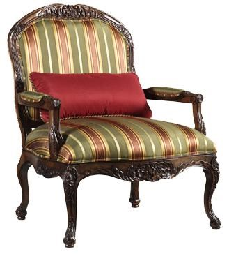 henredon sofa fabrics world store dundee upholstery deborah accent arm chair with exposed wood