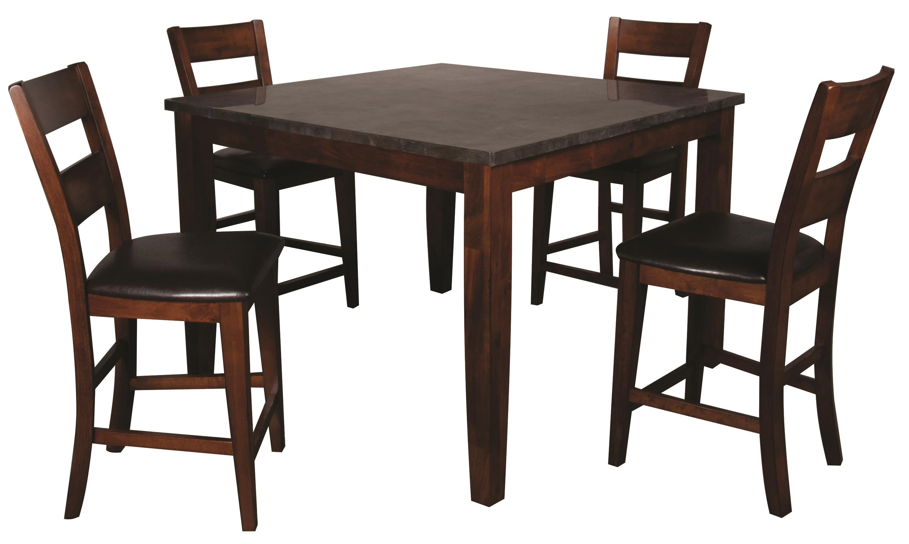 Holland House Melbourne 5 Piece Pub Height Dining Set With Blue Stone Top Morris Home Dining 5 Piece Sets
