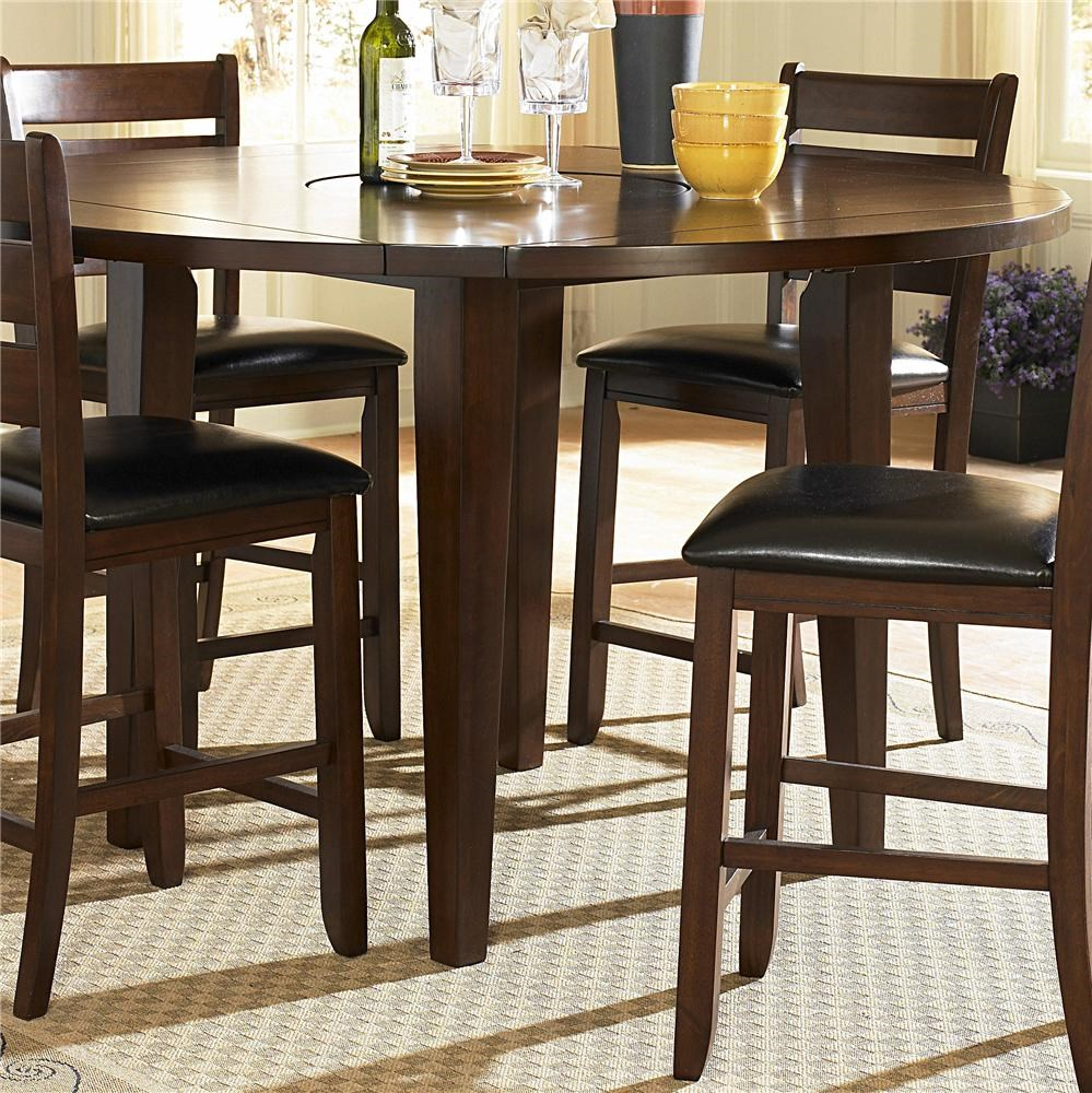 Homelegance Furniture Ameillia 586 36rd Round Counter Height Four Drop Leaf Table Del Sol Furniture Pub Tables