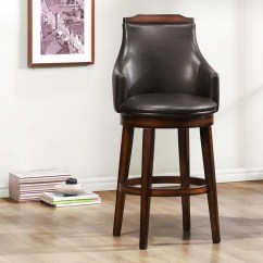 Upholstered Counter Height Chairs Coleman Deck Chair With Table Uk Homelegance Bayshore 5447 24s Transitional Swiveling Seat Beck S Furniture Bar Stools