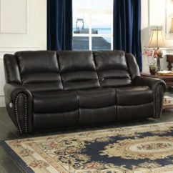Reclining Sofa With Nailhead Trim Seat Cushion Covers Set Homelegance Center Hill Traditional By