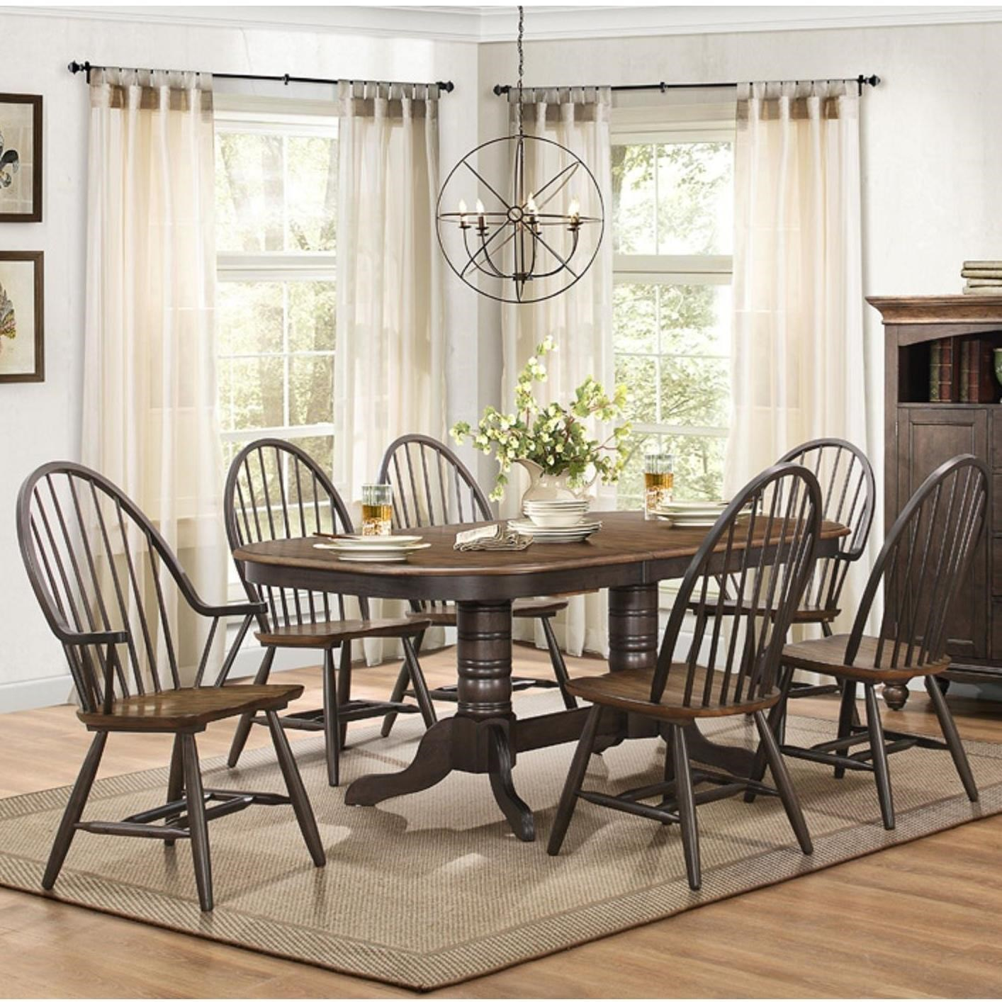 Dining Room Chair Sets Cline Transitional Dining Table And Chair Set With Two Tone Finish By Homelegance At Value City Furniture