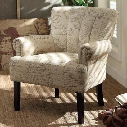 transitional accent chairs folding chair bed uk homelegance langdale 1212f2s with tufted fan back beck s furniture upholstered