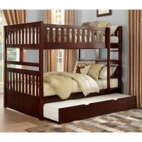 Homelegance Rowe Full Over Full Bunk Bed with Twin Trundle ...