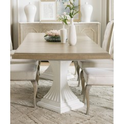 Pedestal Kitchen Table Breakfast Nook Ideas For Small Hooker Furniture Modern Romance Transitional Double Dining Romancedouble