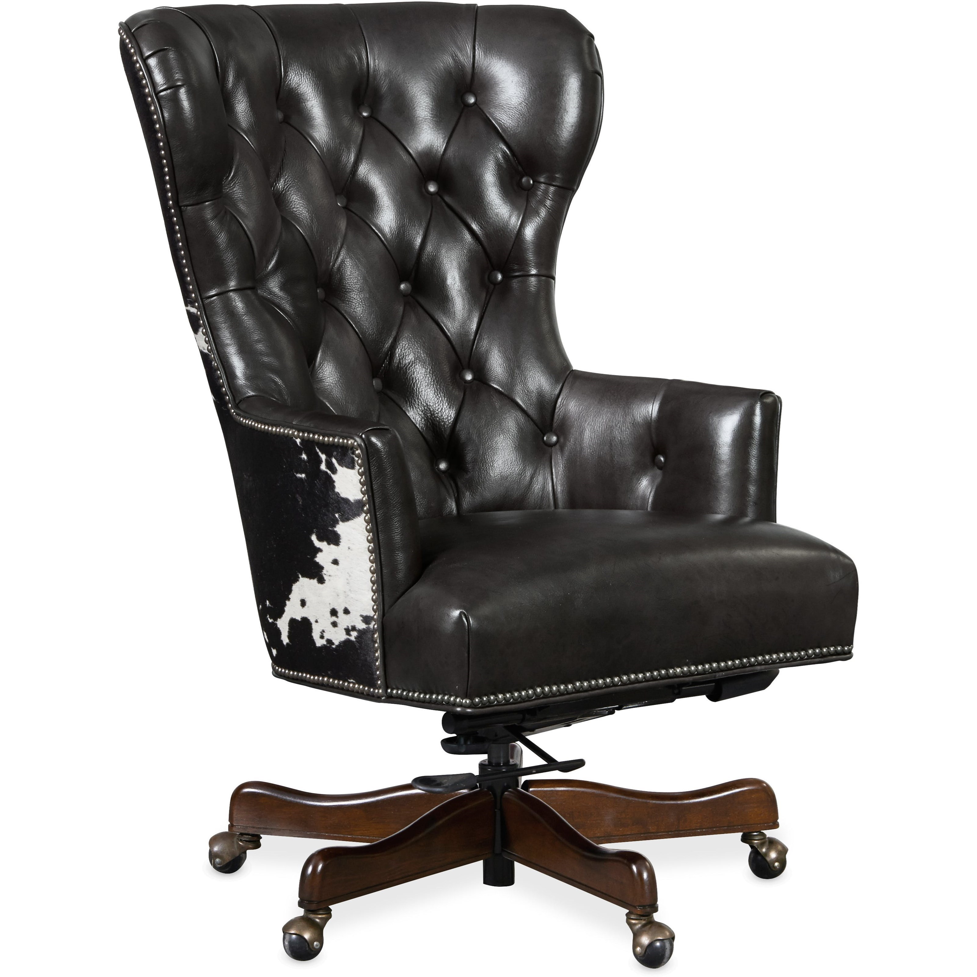 Tufted Leather Office Chair Executive Seating Traditional Home Office Chair With Tufting By Hooker Furniture At Dunk Bright Furniture