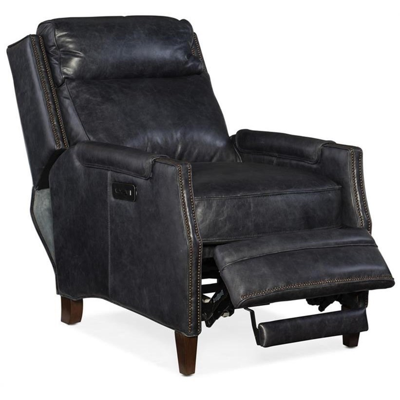 Leather Reclining Chairs Reclining Chairs Regale Power Recliner With Power Headrest By Hooker Furniture At Suburban Furniture