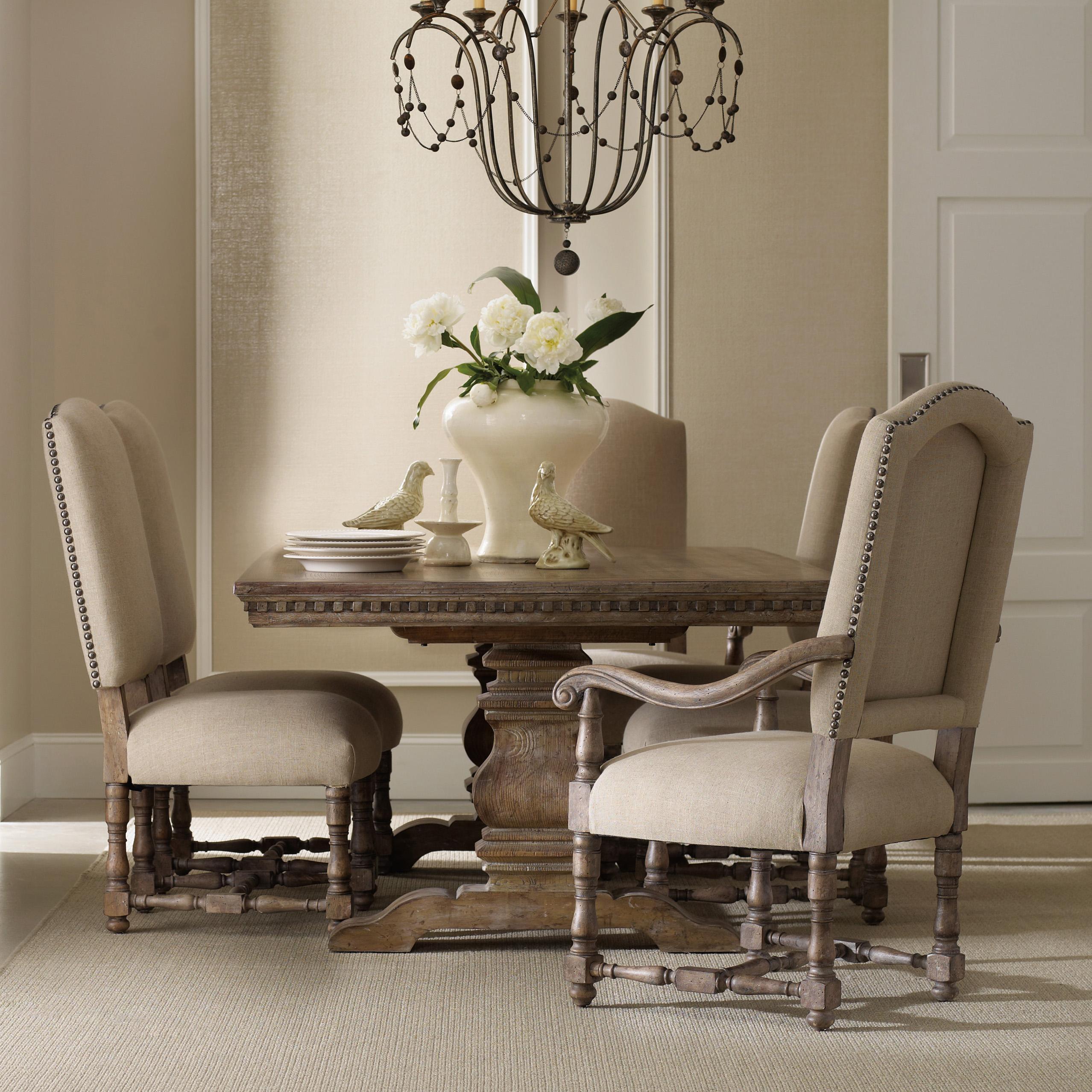 upholstered chairs for dining room adjustable drafting chair hooker furniture sorella formal set with rectangular table sorellarectangular