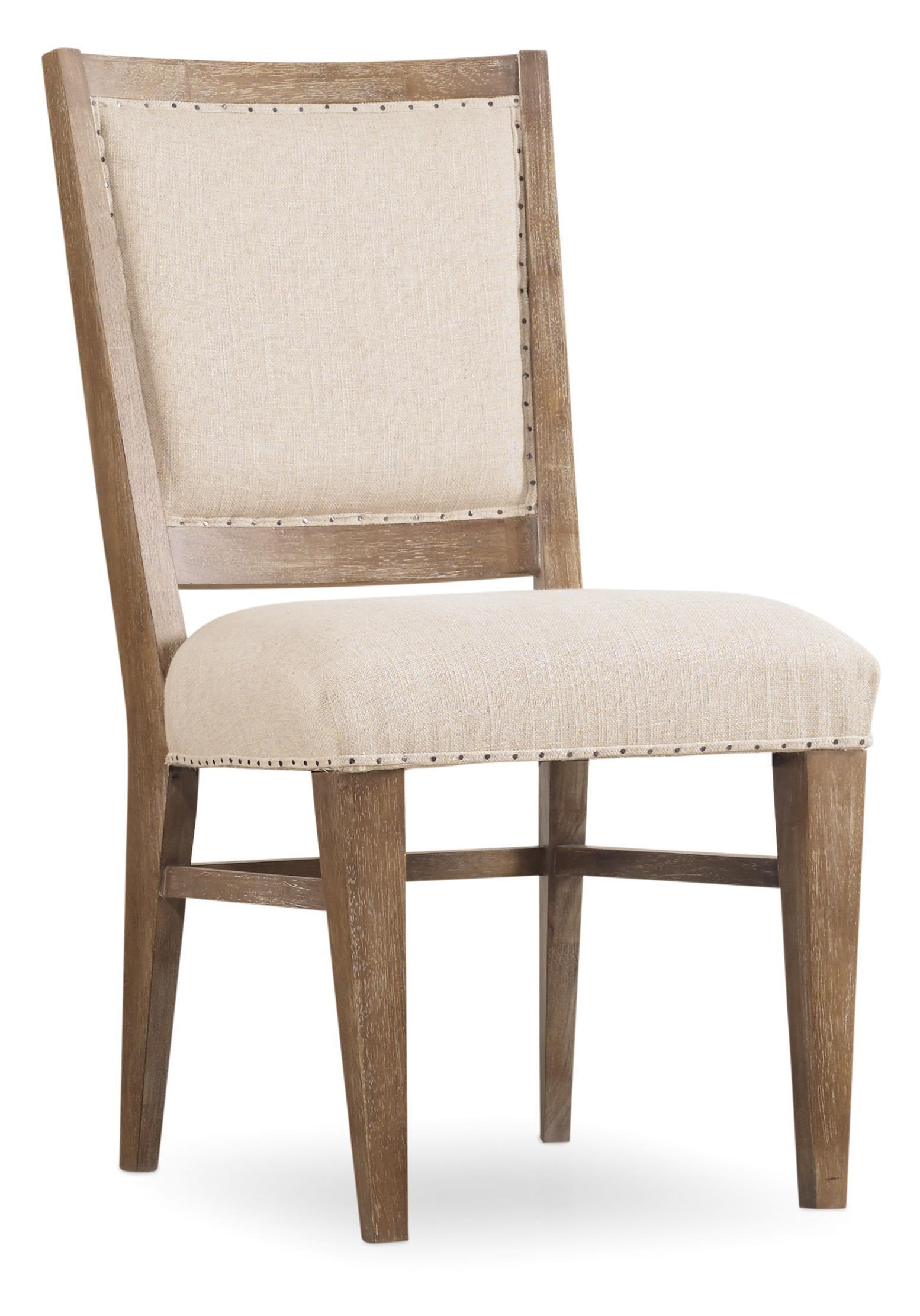 upholstered chair with nailhead trim maple dining room chairs hooker furniture studio 7h 5382 75410 stol side