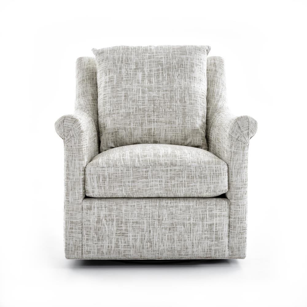 Upholstered Swivel Chairs 7240 Collection Upholstered Swivel Chair With Loose Back Pillow By Huntington House At Baer S Furniture