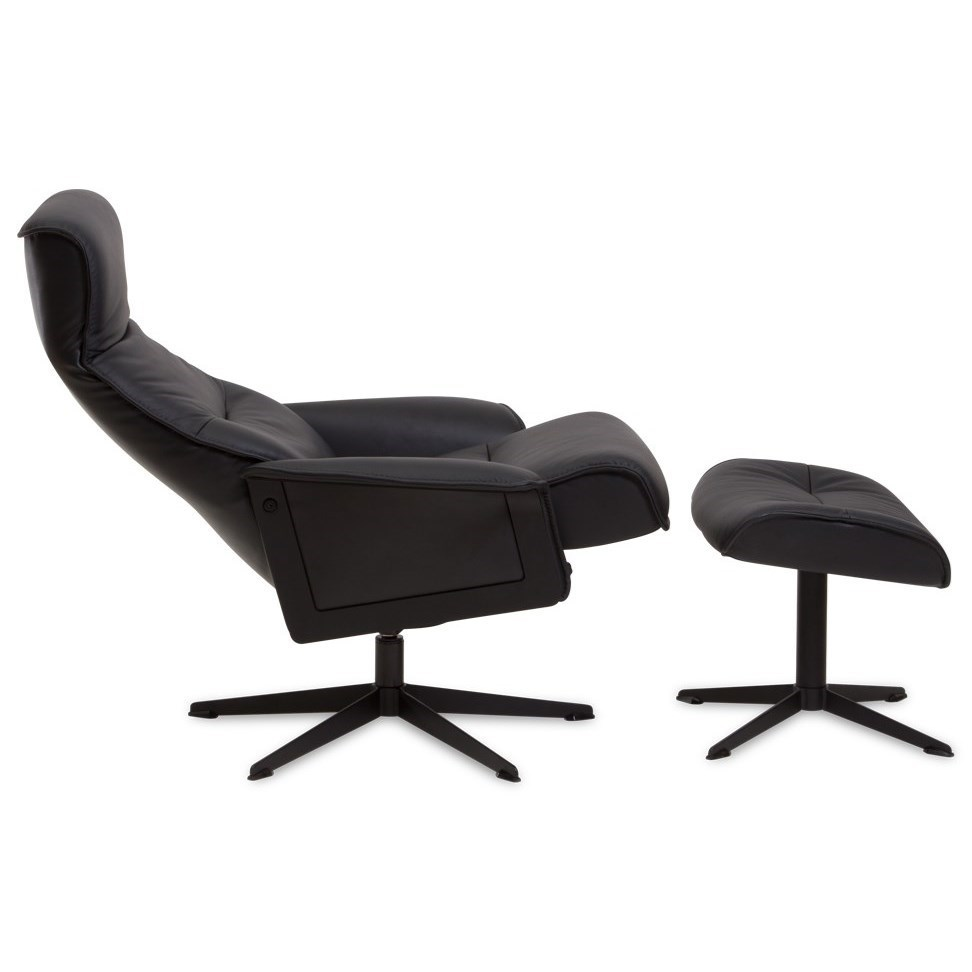 Modern Recliner Chair Scandi Modern Recliner And Ottoman With 360 Swivel By Img Norway At Stoney Creek Furniture