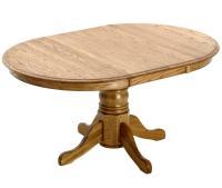 Intercon Classic Oak Single Pedestal Round Dining Table ...