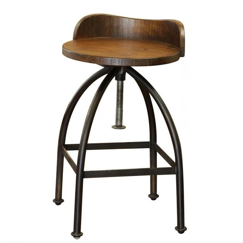 Swivel Bar Chairs Pueblo Adjustable Height Swivel Bar Stool With Iron Base By International Furniture Direct At Furniture And Appliancemart