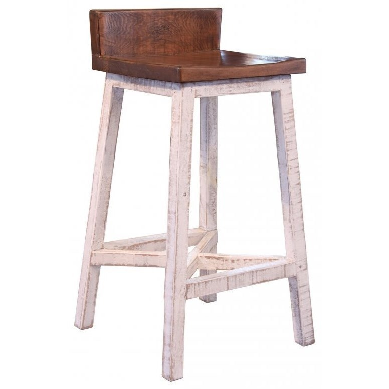 Wood Bar Chairs Pueblo Solid Wood Bar Stool By International Furniture Direct At Furniture And Appliancemart